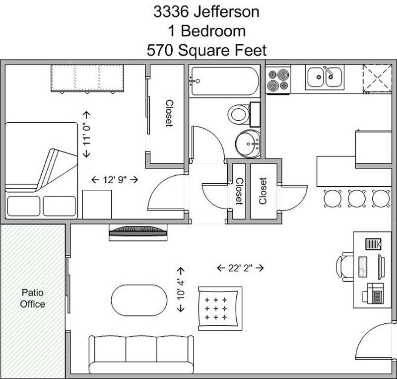 1 Bedroom 1 Bathroom Apartment for rent at 3336 Jefferson in Cincinnati, OH