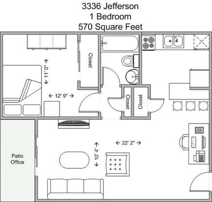 1 Bedroom 1 Bathroom Apartment for rent at 3336 Jefferson in Cincinnati, OH