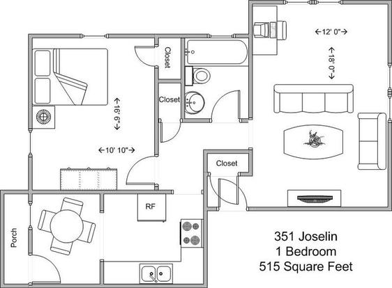 1 Bedroom 1 Bathroom Apartment for rent at 351 Joselin in Cincinnati, OH