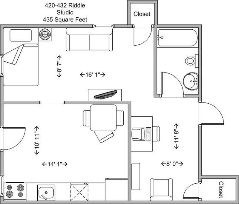 Studio 1 Bathroom Apartment for rent at 420-424 Riddle in Cincinnati, OH
