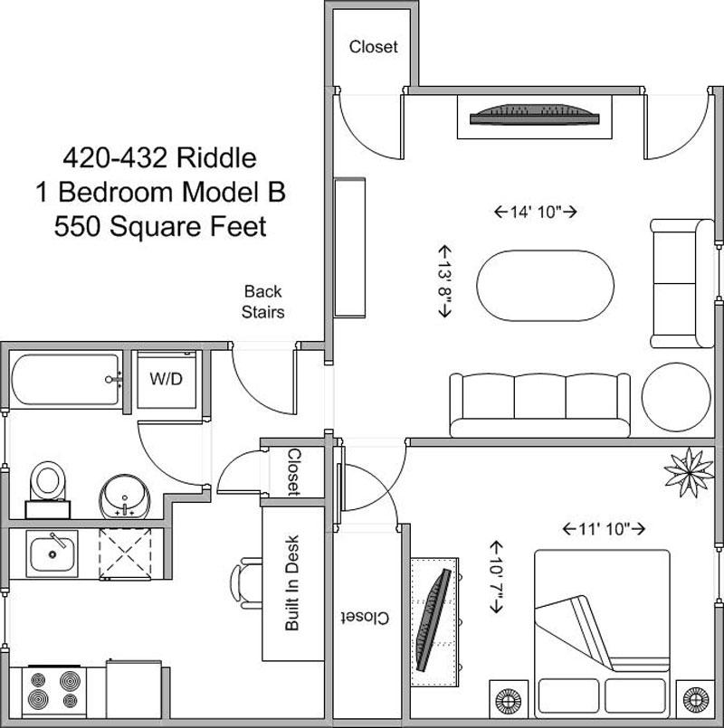 1 Bedroom 1 Bathroom Apartment for rent at 420-424 Riddle in Cincinnati, OH