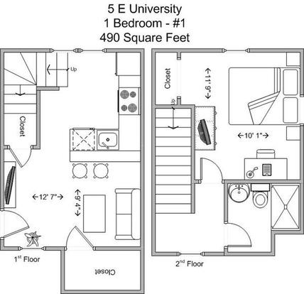 1 Bedroom 1 Bathroom Apartment for rent at 5 E University in Cincinnati, OH