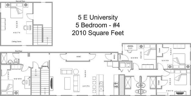 5 Bedrooms 3 Bathrooms Apartment for rent at 5 E University in Cincinnati, OH