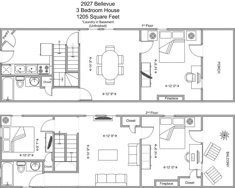 3 Bedrooms 2 Bathrooms House for rent at 2927 Bellevue in Cincinnati, OH