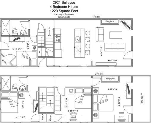 4 Bedrooms 2 Bathrooms House for rent at 2921 Bellevue in Cincinnati, OH