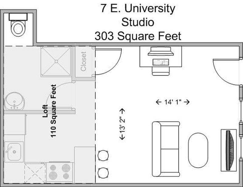 Studio 1 Bathroom House for rent at 7 E University in Cincinnati, OH