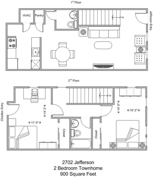 2 Bedrooms 1 Bathroom Apartment for rent at 2702 Jefferson in Cincinnati, OH