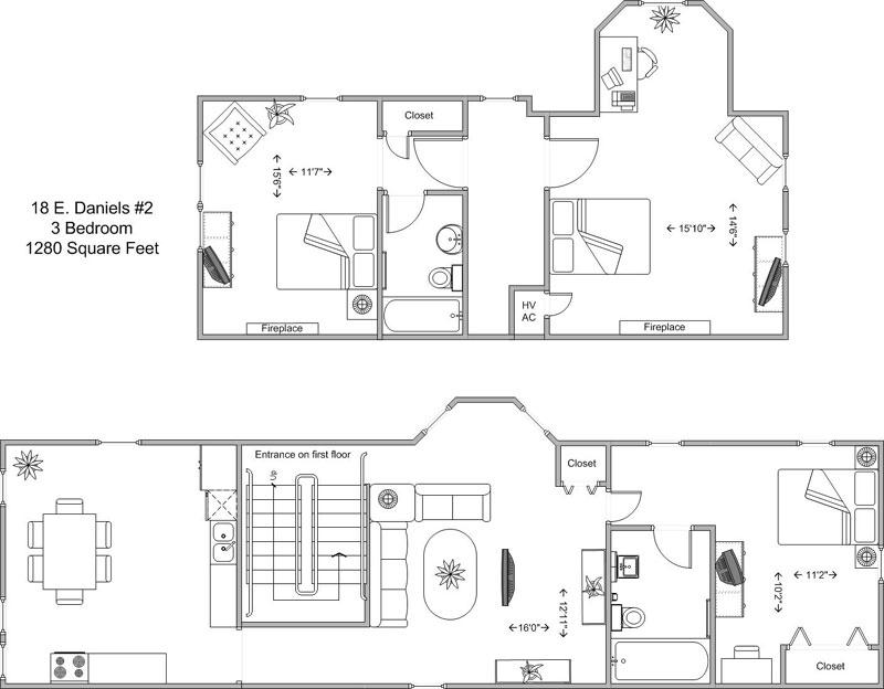 3 Bedrooms 2 Bathrooms Apartment for rent at 18 E Daniels in Cincinnati, OH