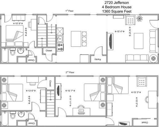 4 Bedrooms 2 Bathrooms House for rent at 2720 Jefferson in Cincinnati, OH