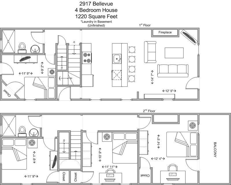 4 Bedrooms 2 Bathrooms House for rent at 2917 Bellevue in Cincinnati, OH