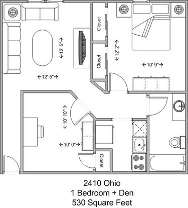 1 Bedroom 1 Bathroom Apartment for rent at 2410 Ohio in Cincinnati, OH