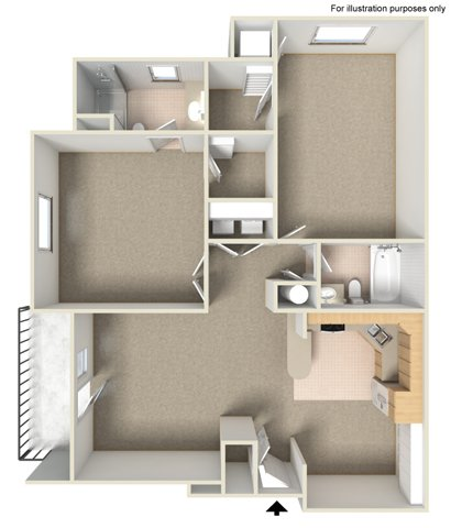 2 Bedrooms 2 Bathrooms Apartment for rent at West Grove Apartments in Waukesha, WI