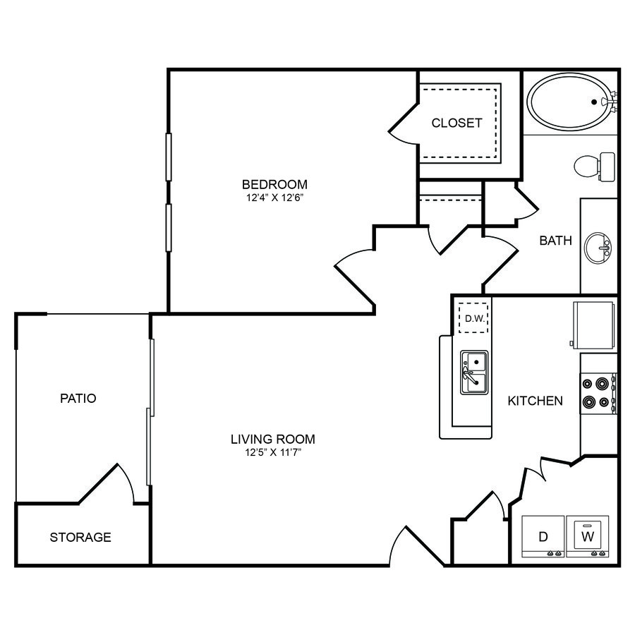 1 Bedroom 1 Bathroom Apartment for rent at Boulders Apartments in Hurst, TX