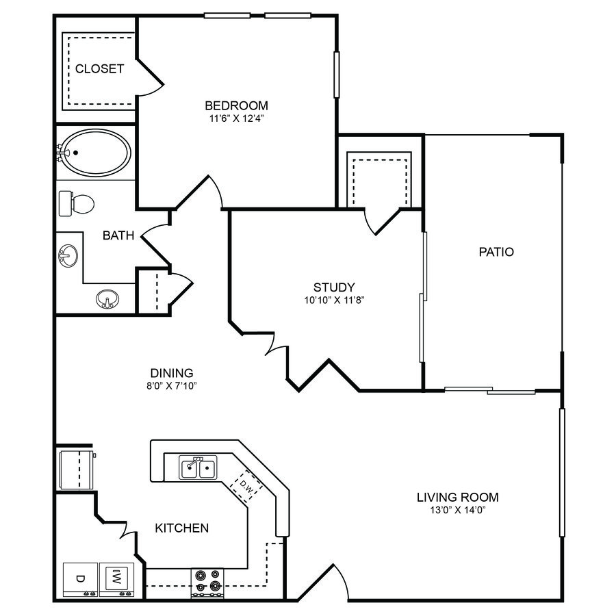 2 Bedrooms 1 Bathroom Apartment for rent at Boulders Apartments in Hurst, TX