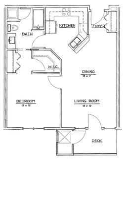 1 Bedroom 1 Bathroom Apartment for rent at Hawk's Landing in Verona, WI