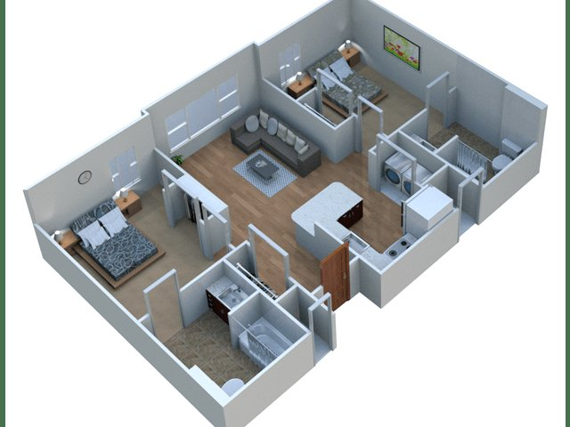 2 Bedrooms 2 Bathrooms Apartment for rent at Aspire At West Campus in Iowa City, IA