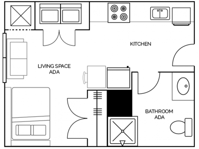 Studio 1 Bathroom Apartment for rent at Aspire At Discovery Park in West Lafayette, IN