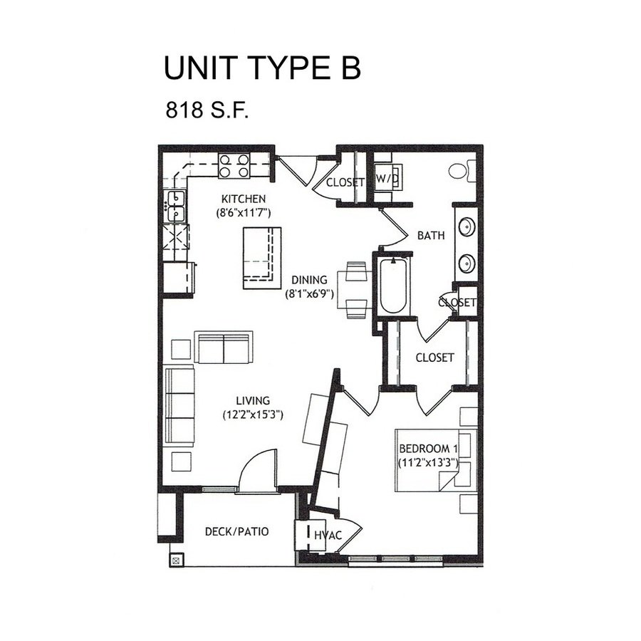 1 Bedroom 1 Bathroom Apartment for rent at Delafield Woods Apartments in Delafield, WI