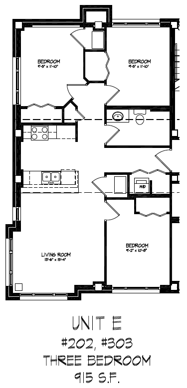 3 Bedrooms 1 Bathroom Apartment for rent at The Lake House in Madison, WI