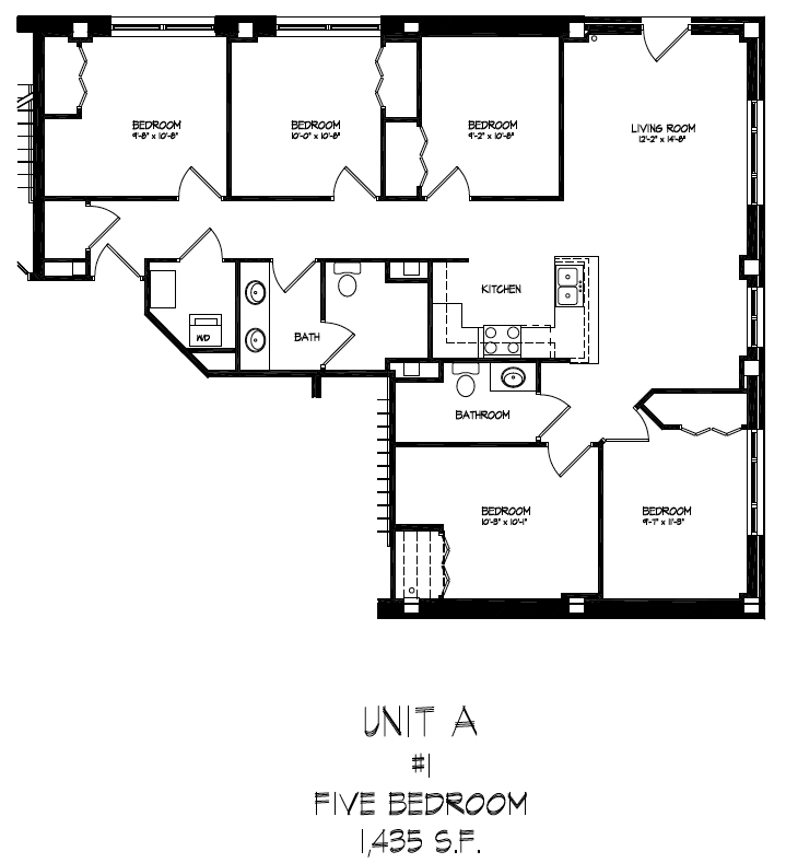 5 Bedrooms 2 Bathrooms Apartment for rent at The Lake House in Madison, WI