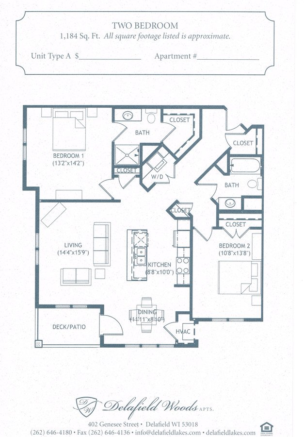 2 Bedrooms 2 Bathrooms Apartment for rent at Delafield Woods Apartments in Delafield, WI