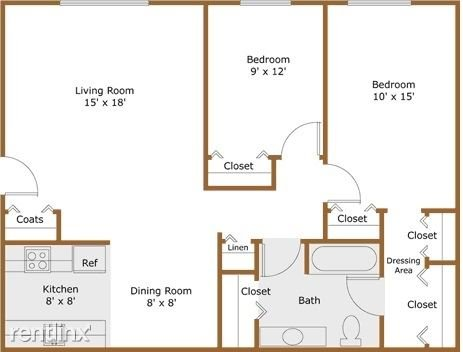 2 Bedrooms 1 Bathroom Apartment for rent at Pine Valley Apartments in Ann Arbor, MI