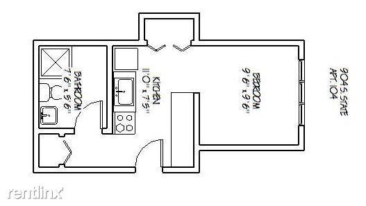 Studio 1 Bathroom Apartment for rent at 904 S. State in Ann Arbor, MI