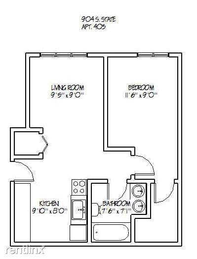 1 Bedroom 1 Bathroom Apartment for rent at 904 S. State in Ann Arbor, MI
