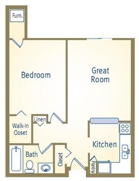 1 Bedroom 1 Bathroom Apartment for rent at The Crossing At Eagle Pond in Commerce Township, MI