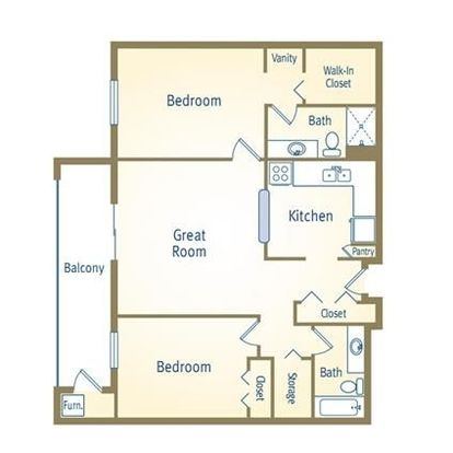 2 Bedrooms 2 Bathrooms Apartment for rent at The Crossing At Eagle Pond in Commerce Township, MI