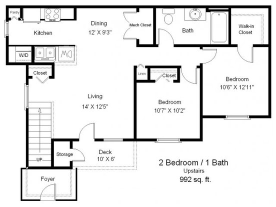 2 Bedrooms 1 Bathroom Apartment for rent at Copper Gate in Lafayette, IN