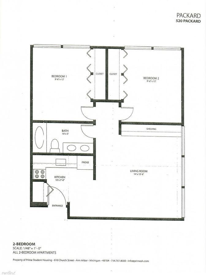 2 Bedrooms 1 Bathroom Apartment for rent at 520 Packard St in Ann Arbor, MI