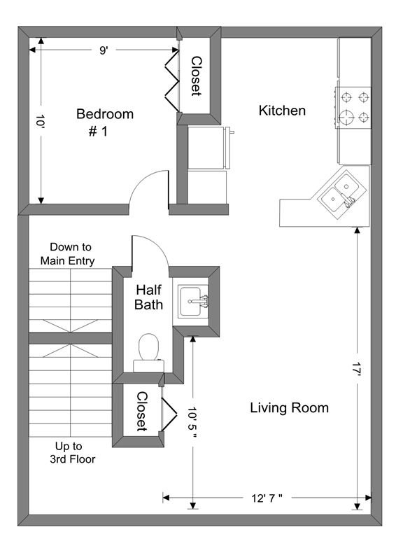 3 Bedrooms 2 Bathrooms Apartment for rent at 907 E Huron St in Ann Arbor, MI