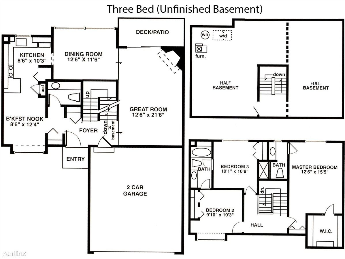 3 Bedrooms 2 Bathrooms House for rent at Weatherstone Townhomes in Southfield, MI