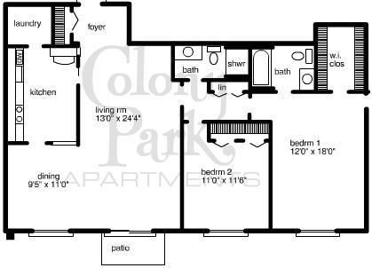 2 Bedrooms 2 Bathrooms Apartment for rent at Colony Park Apartments in Southfield, MI
