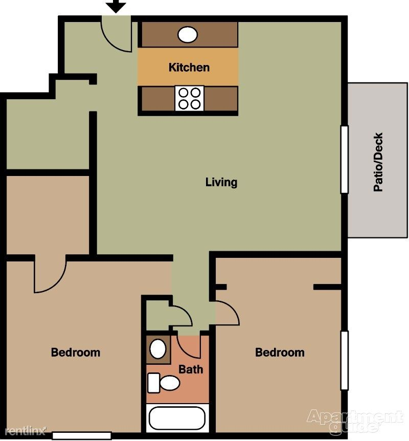 2 Bedrooms 1 Bathroom Apartment for rent at Bedford Square in Canton, MI