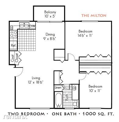 2 Bedrooms 1 Bathroom Apartment for rent at The Gables Of Troy in Troy, MI