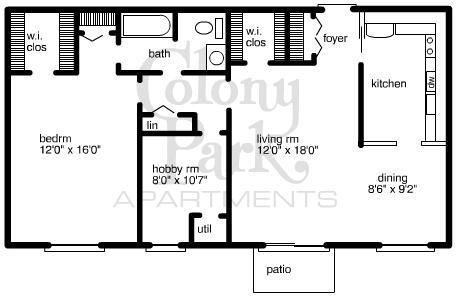1 Bedroom 1 Bathroom Apartment for rent at Colony Park Apartments in Southfield, MI