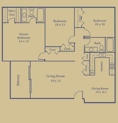 3 Bedrooms 2 Bathrooms Apartment for rent at Briarwood Park in Royal Oak, MI