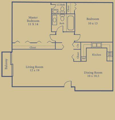 2 Bedrooms 1 Bathroom Apartment for rent at Briarwood Park in Royal Oak, MI