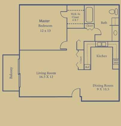 1 Bedroom 1 Bathroom Apartment for rent at Briarwood Park in Royal Oak, MI