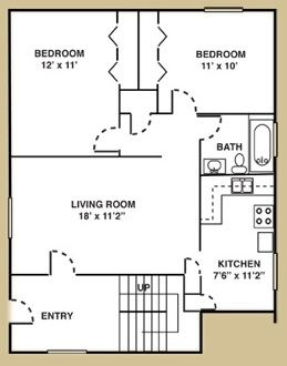 2 Bedrooms 1 Bathroom Apartment for rent at Metropolitan 13 Apartments in Royal Oak, MI