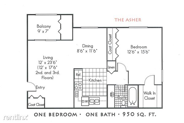 1 Bedroom 1 Bathroom Apartment for rent at The Gables Of Troy in Troy, MI