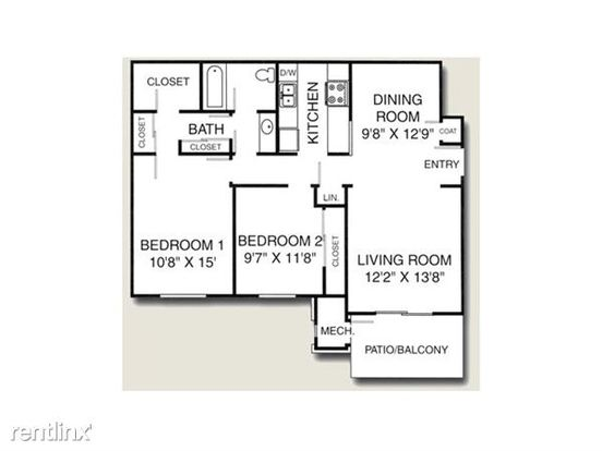 2 Bedrooms 1 Bathroom House for rent at Avalon Place Apartments & Townhomes in Dewitt, MI