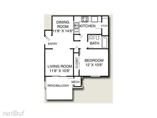 1 Bedroom 1 Bathroom House for rent at Avalon Place Apartments & Townhomes in Dewitt, MI