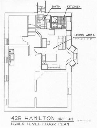 Studio 1 Bathroom Apartment for rent at 423 Hamilton Pl in Ann Arbor, MI