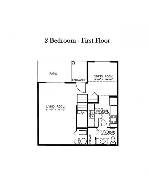 2 Bedrooms 1 Bathroom House for rent at Sawmill Family Estates in Wayland, MI