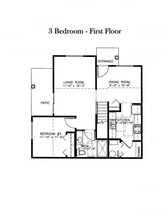 3 Bedrooms 2 Bathrooms House for rent at Sawmill Family Estates in Wayland, MI