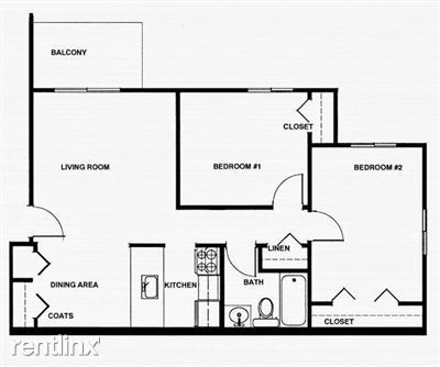 2 Bedrooms 1 Bathroom Apartment for rent at Whitehills I in Howell, MI