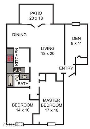 2 Bedrooms 1 Bathroom Apartment for rent at Chapel Hill Apartments in Indianapolis, IN